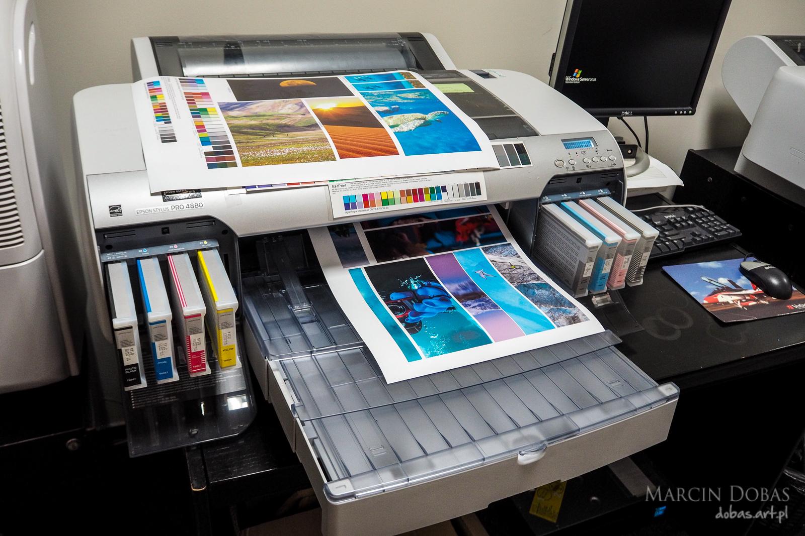 wydruk na drukarce proofingowej