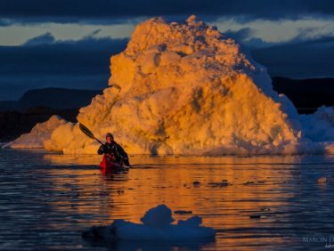 Kayaking on Disko Bay, Greenland