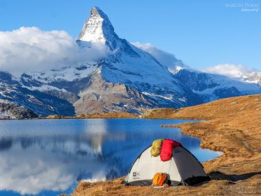Tent near Matterhorn Zermatt, Switzerland