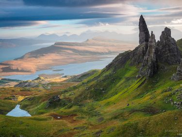 Old Man of Storr on the Isle of Skye in Scotland.