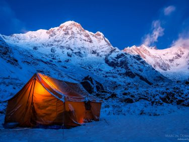 Porter's tent near Annapurna Base Camp, Nepal