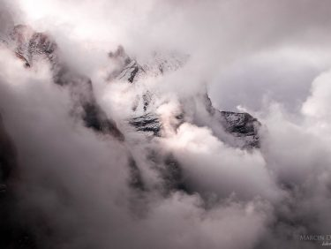 Himalayan mountains and clouds, Nepal