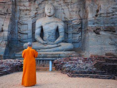 Buddha statue in Polonnaruwa temple, Sri Lanka