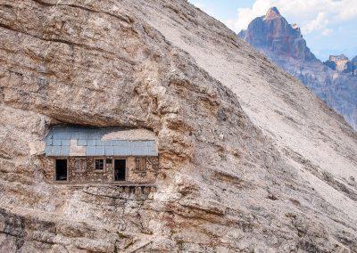 via ferrata Ivano Dibona - bivacco - climbing in Dolomites