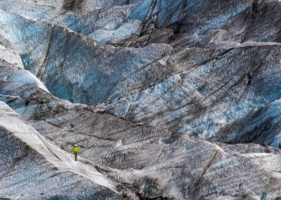 Climber on the glacier.