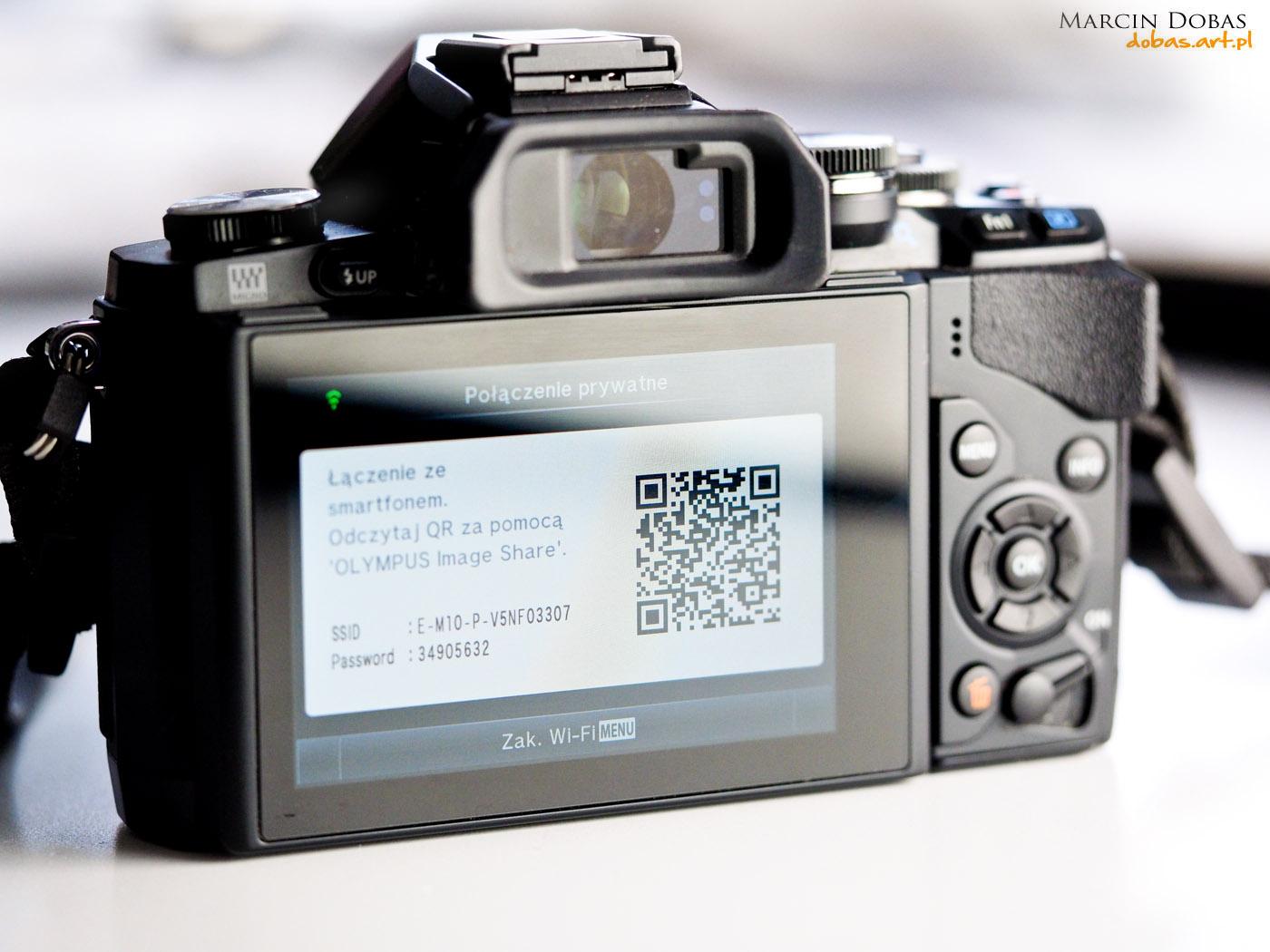 wi-fi w aparacie Olympus OM-D EM-10