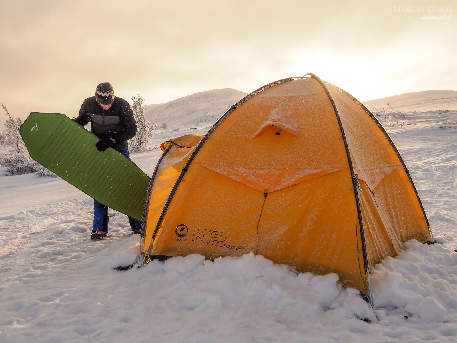 namiot Marabut K2 expedition i mata Vango Ultralite