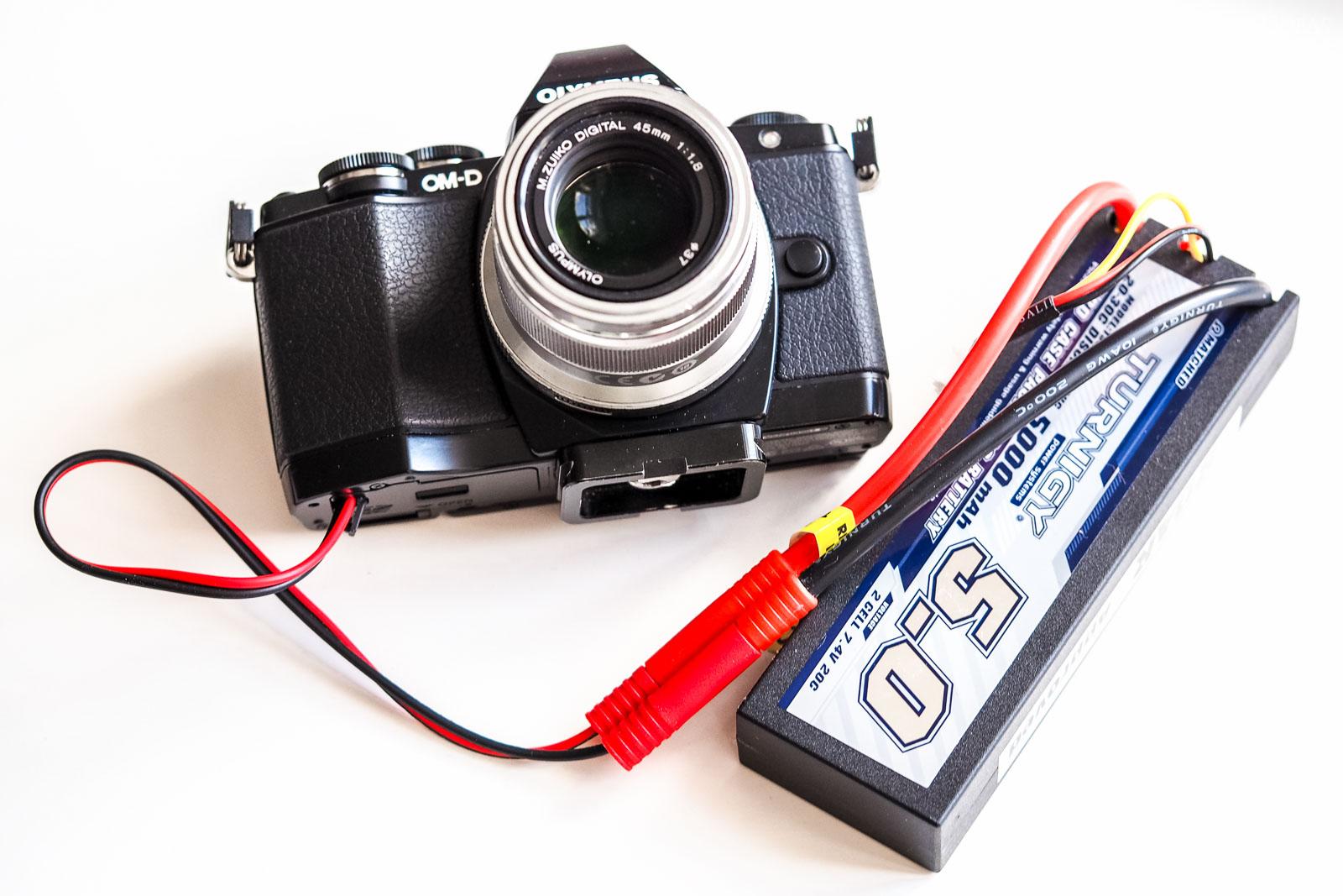 zewnętrzne zasilanie aparatu